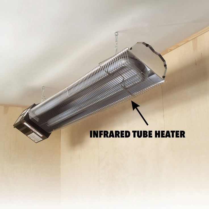 How to Heat a Garage Infrared garage heater, Garage