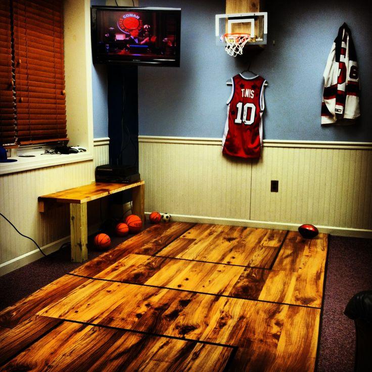 Basketball court in bedroom