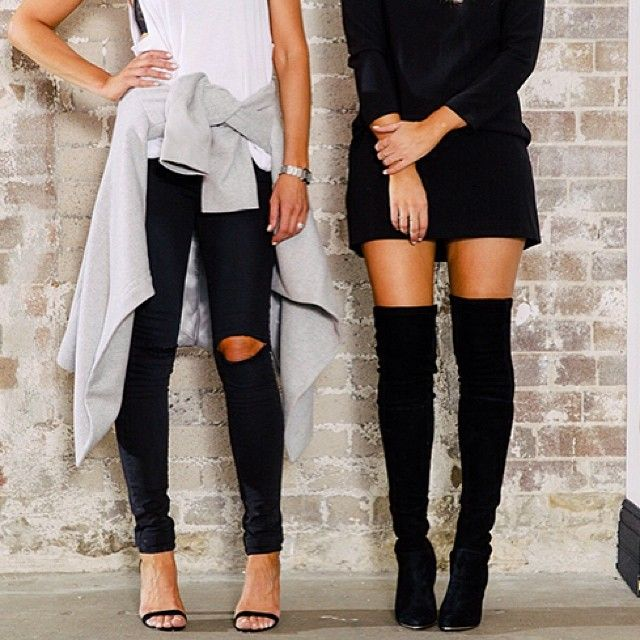 The Isabel Over The Knee Boot as worn by Elle Ferguson is back in stock online at www.witchery.com.au