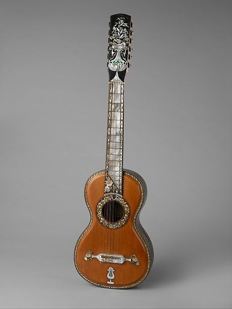 guitarra septima seven string guitar by m fernandez mexican met museum violas. Black Bedroom Furniture Sets. Home Design Ideas