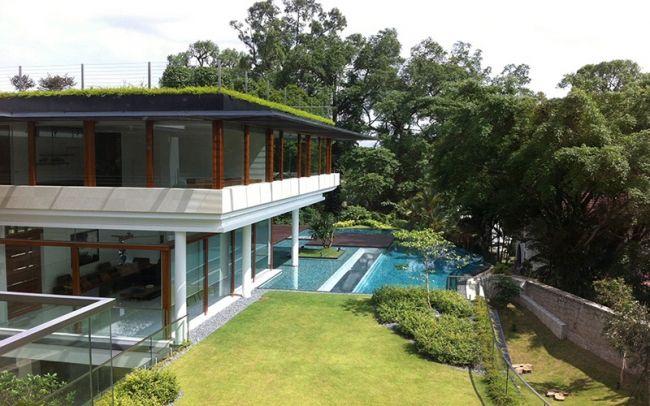 Résidence contemporaine dinspiration tropicale à singapour bungalowssingapore