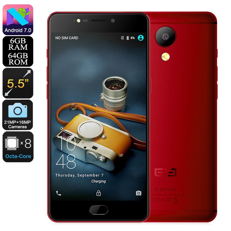Elephone P8 Android Phone (Red)  FAST DELIVERY 3-7 DAYS #Car Accessories #Tablets