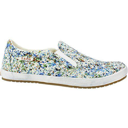 Taos Footwear Women's Dandy Slip On Sneaker,Blue Splash Canvas,US 6.5 M