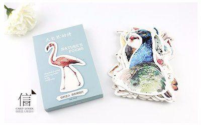 Birds Shaped Postcard Set   Nature's Poems