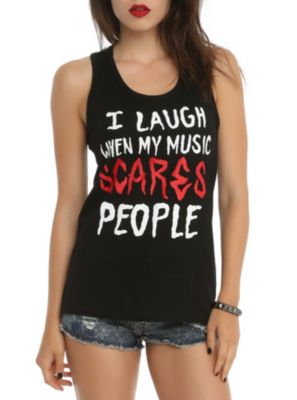 My Music Scares People Girls Tank Top I want this sooooo bad!!
