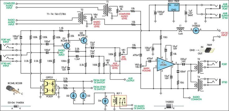 Aviation Intercom Circuit Diagram