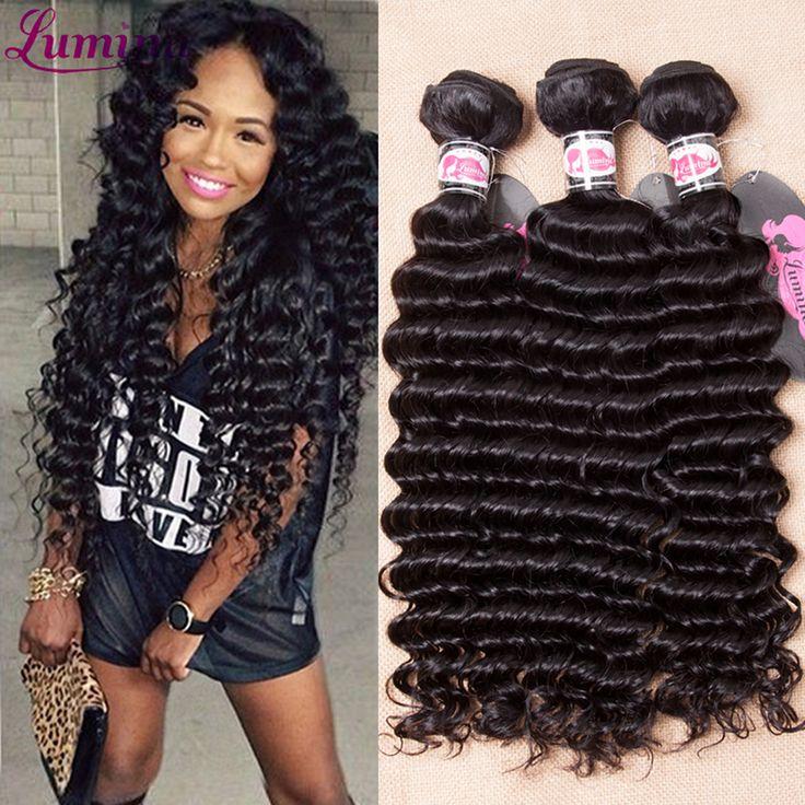 Lumina Produkty Do Włosów Peruwiański Głęboka Fala Ludzkich Włosów 4 Wiązki oferty 7A Peru Virgin Hair Tanie Peruwiański Włosów Głęboko Kręcone splot
