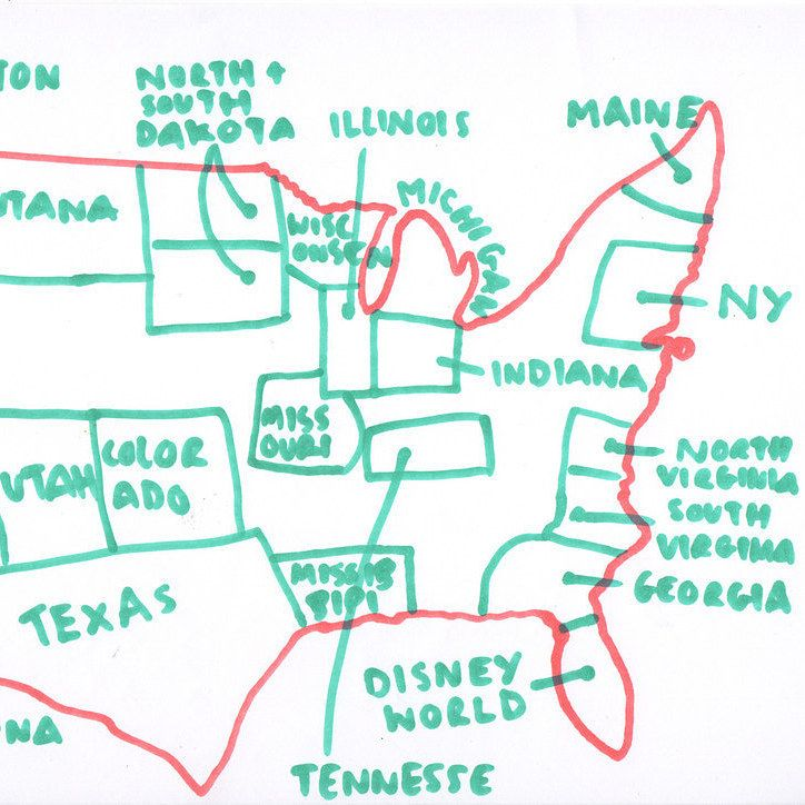 For Independence Day We Asked Brits To Draw A Map Of The US From Memory