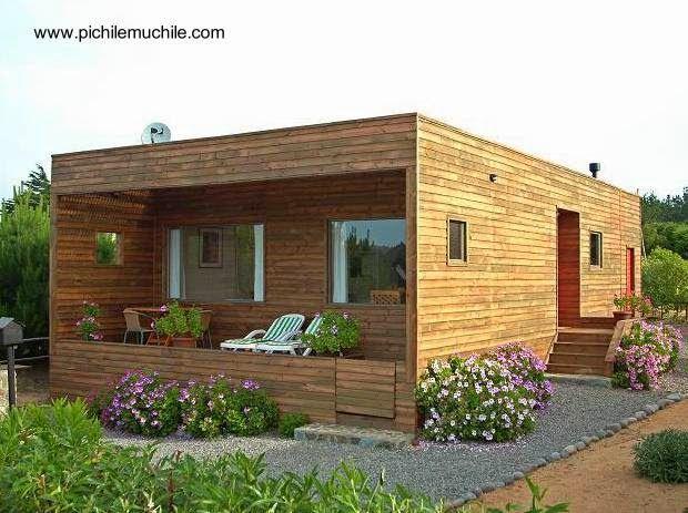 Versión contemporánea de la tradicional cabaña de madera