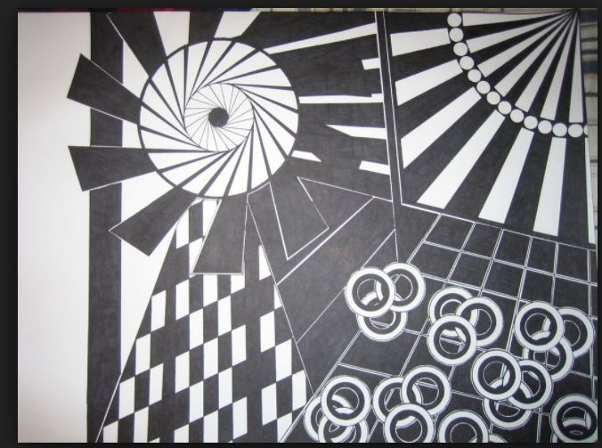 Implied Lines In Art : Best cut paper d design examples images