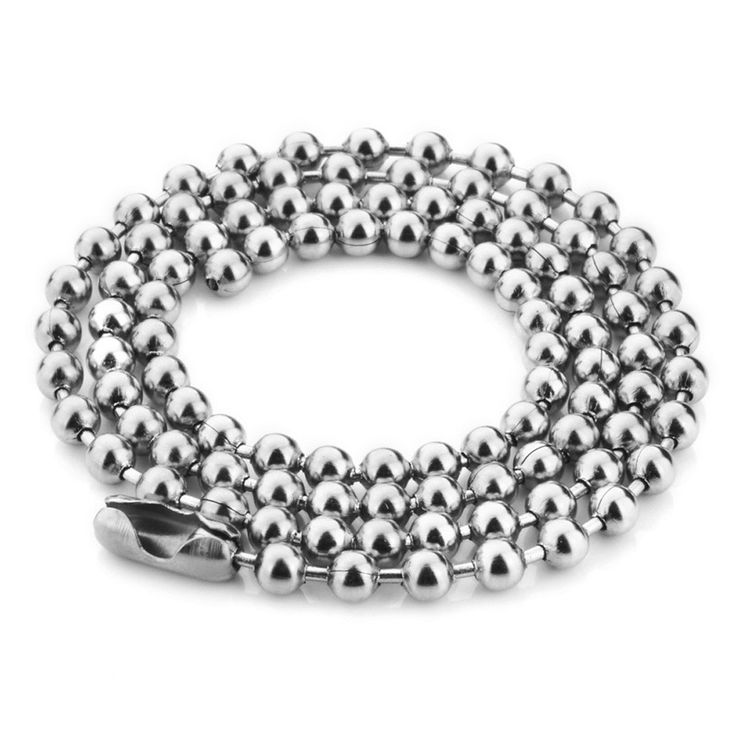 Stainless Steel Ball Chain Necklace Chain For Pendant Available in 3.5mm 24inch long.