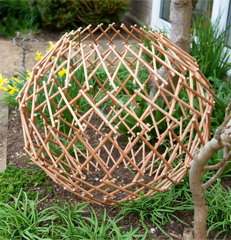 Expandable Garden Willow Trellis Sphere Expanding Climbing Plant Support Protect