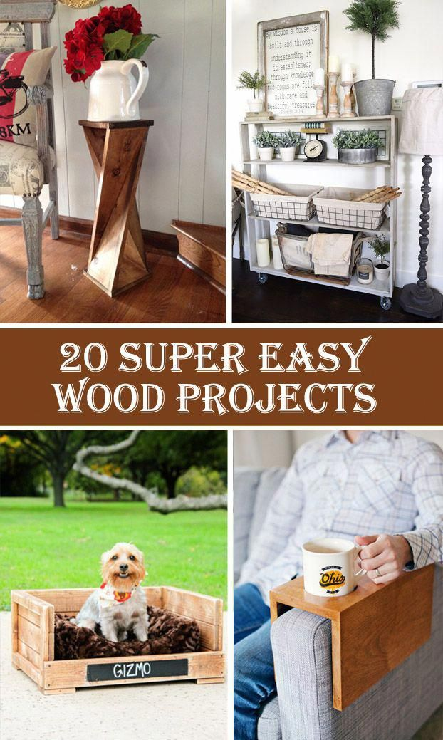 20 Super Easy Wood Projects For Beginners Woodworking Painting