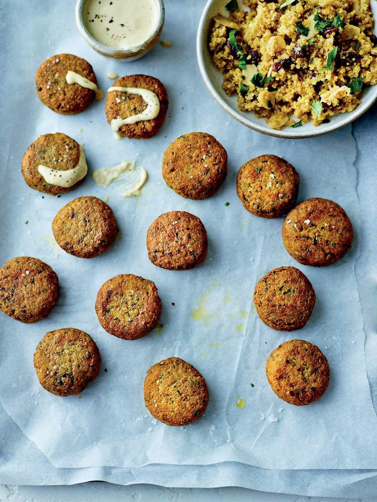 Immuno-falafels with quinoa and tahini by Dale Pinnock from The Medicinal Chef: Healthy Every Day   Cooked