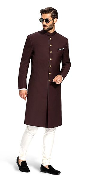 Make a style statement with our wide range of customized ethnic wear for men. View finely tailored custom made sherwani, bandhgala jacket and more at Herringbone & Sui. #bandhgalajackets #sherwani