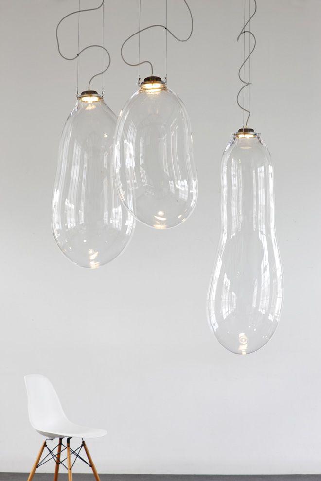 3 big bubble pendant lamps by alex de witte for dark Big Bubble Pendant Lamps by Alex de Witte for Dark