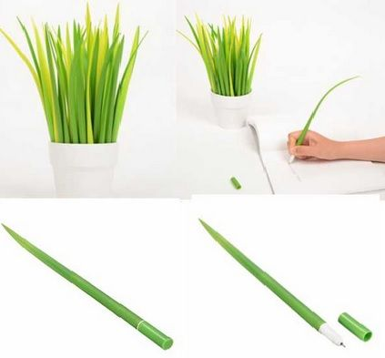 Grass Ballpoint Pen. This forest green grass design ballpen will enhance joy of life and work definitely. Pure and fresh visual effect improve interesting of working.