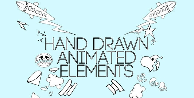 Animated Hand-Drawn ElementsThe elements are a hand drawn and a true labor of motion graphic love. The project is easily customizable and simple to drop into any project, with a number of elements that you can modify according to your need and liking.After Effects project file as a bonus. All elements are pre-rendered.Main features:• A number of hand-drawn elements that can be dropped into any project• No 3rd party plugins• Original content• Each quicktime MOV is exactly one animation cycle…
