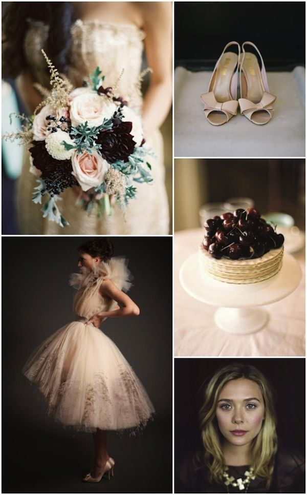 luxe nude and maroon wedding inspiration