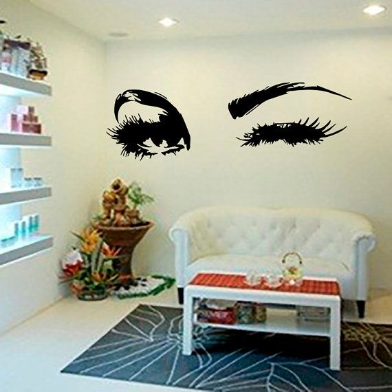 Beautiful Eyes Big Eye Lashes Wink Decor Wall Art by CozyDecal