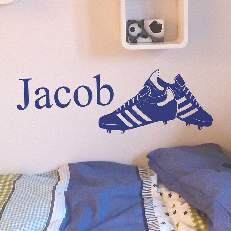 Personalised Football Boots Wall Sticker
