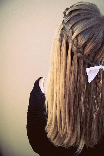 .: Hair Ideas, Fashion, Hairstyles, Waterfalls, Hair Styles, Makeup, Waterfallbraids, Waterfall Braids, Beauty
