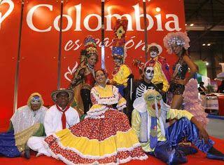 Kostiumy i tradycyjny świata: miejscowe stroje Kolumbia Wenezuela