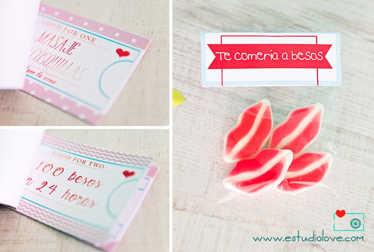 Kit enamorados, kit San Valentin, Love Coupon,   regalo original boda, valentinesdays, Regalo San Valentín / Gift lovers www.estudiolove.com