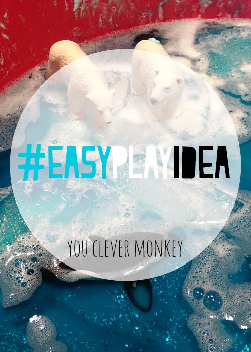 Invitation to play - create this invitation to play at home in lands of snow and ice for your children. A perfect mix of early science, sensory play and small worlds. This activity will keep your children busy for hours on a hot day | you clever monkey