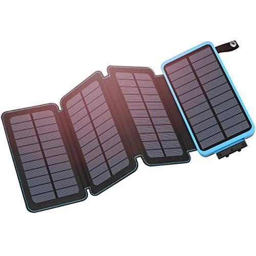 Hiluckey Solar Charger 25000mah Portable Solar Power Bank Https Www Amazon Com Dp B07fm6pslm Ref Solar Phone Chargers Solar Charger Portable Solar Charger