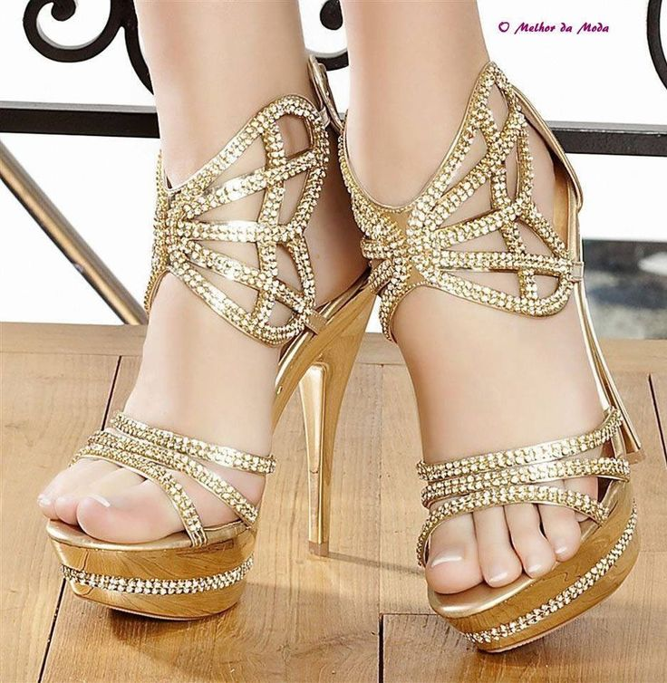 Gold Prom Heels