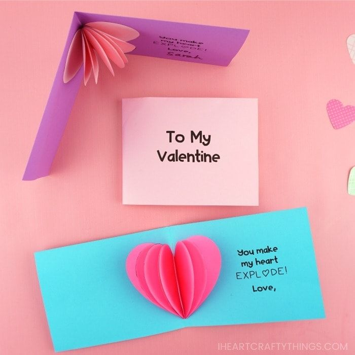 How To Make A 3d Heart Card Diy Valentine S Day Pop Up Cards Valentine Cards Handmade Heart Pop Up Card
