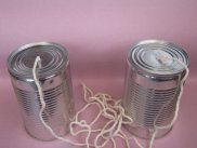 Kids Senses - Tin Can Phones - Sound Travels from Childrens Science Experiments