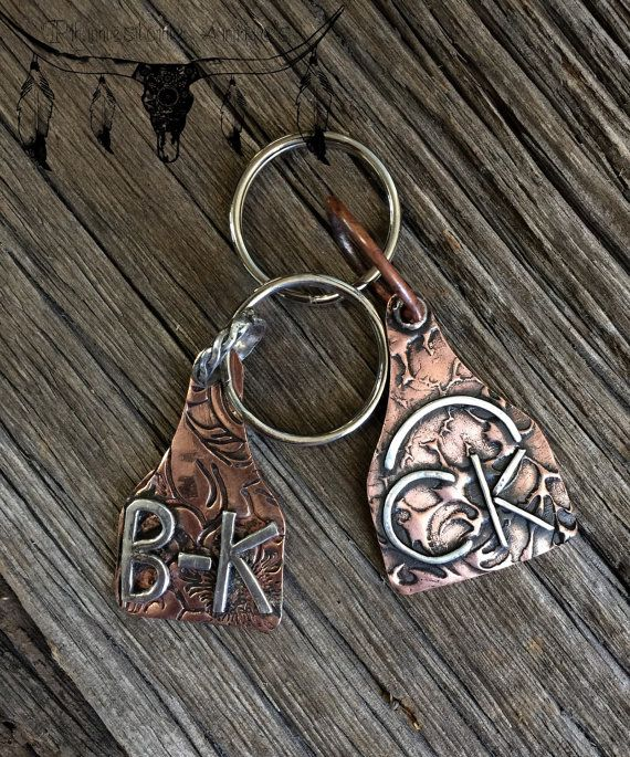 Eartag keychains custom made with you ranch brand, cattle brand, initials, cow image or whatever you can think of on it. The price of the tag is