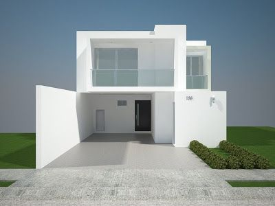 Fachadas Minimalistas: Fachadas minimalistas modelo B6 Residencial Bosque Real