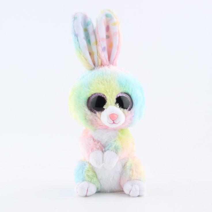 Купить товарTy Beanie Боос Оригинальные Большие Глаза Плюшевые Игрушки Каваи Кукла Детский День Рождения Rebbit Мягкие игрушки Детские 15 см Игрушки в категории Набивные плюшевые игрушкина AliExpress. высота 22 см