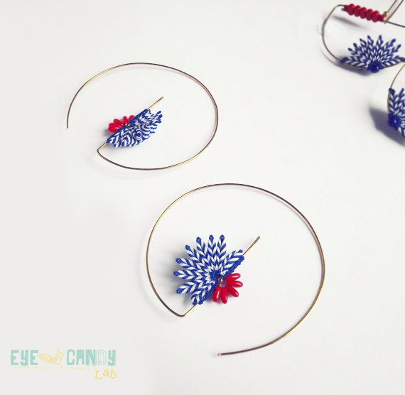 Circle Earrings Large Circle Earrings Origami от EyeCandyLab