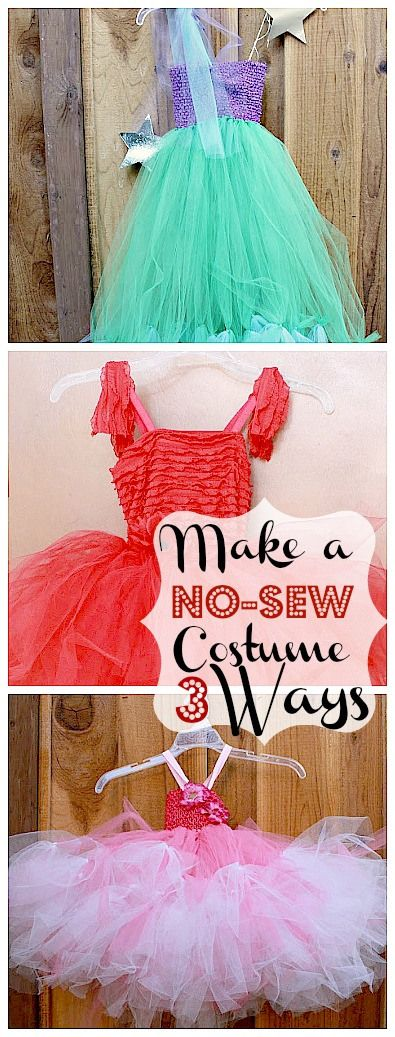 No Sew Princess Costumes - cheap and easy way to stock dress up box.