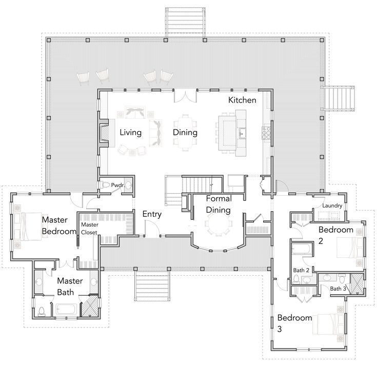 Large Open Floor Plans with Wrap Around Porches – …