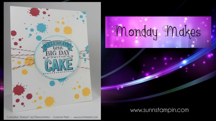 Celebrate with Cake featuring Stampin' Up! Products featuring Stampin' U...