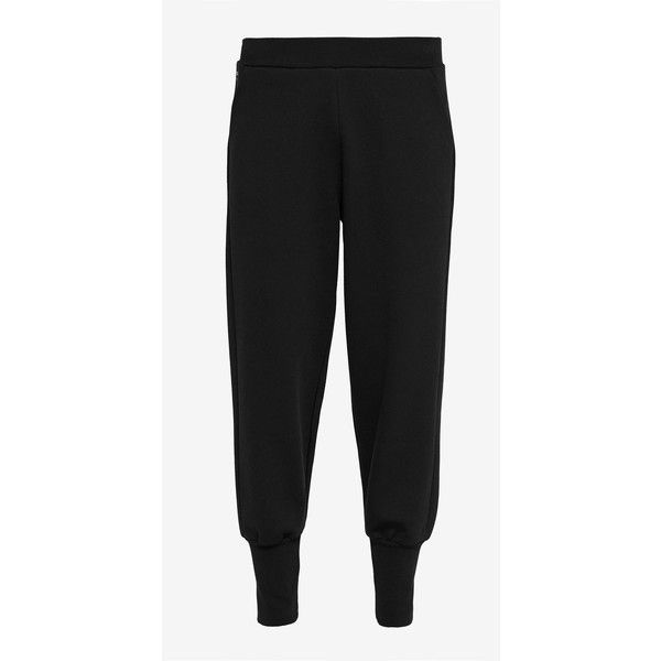 Ribbed cuff jogger trousers ($145) ❤ liked on Polyvore featuring pants, relaxed pants, ted baker pants, jogger pants, bow pants and jogging trousers