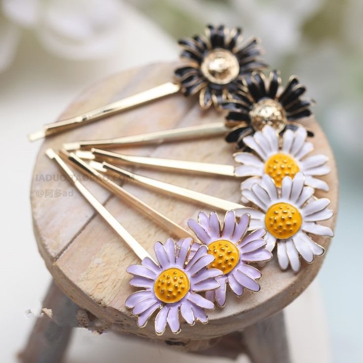 2017 New Korean fashion wholesale hair accessories hairpin small daisy flowers sunflower Side clamp Hairpin clip