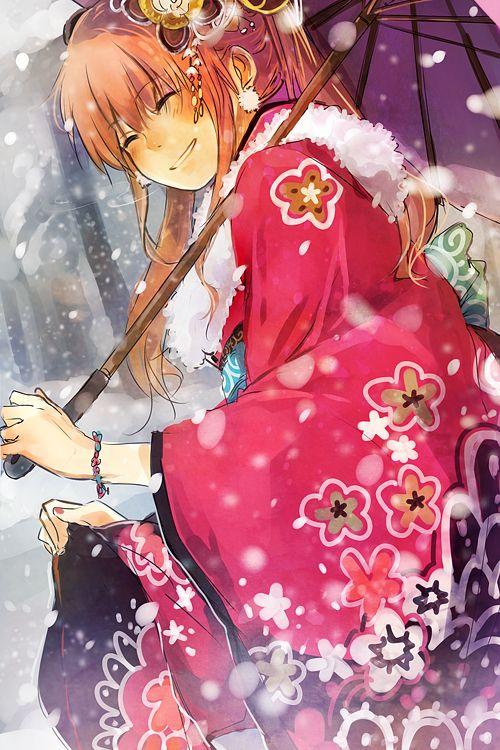 Tags: Anime, Fanart, Gin Tama, Pixiv, Kagura (Gin Tama)