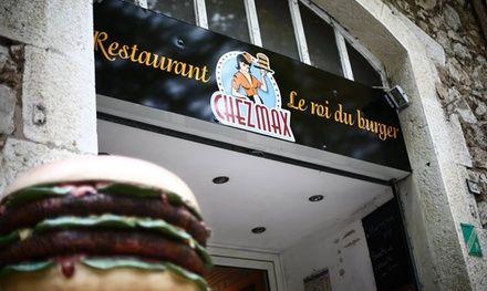 Un hamburger à la française - Restaurant Chez Max à Valbonne