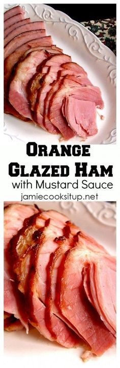 This wonderful Orange Glazed Ham with Mustard Sauce would make a wonderful main course for Easter Dinner or Easter Brunch.