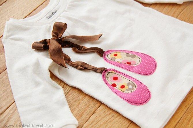 ballet shoes DIY for shirt