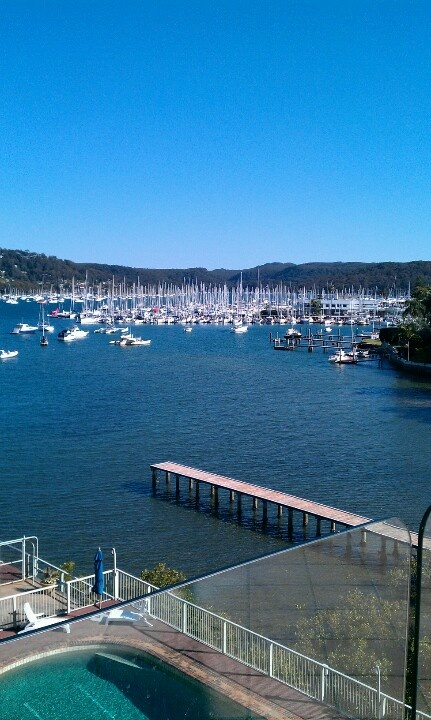 View of the Newport marina from the Mirage Restaurant in Newport Beach, NSW.