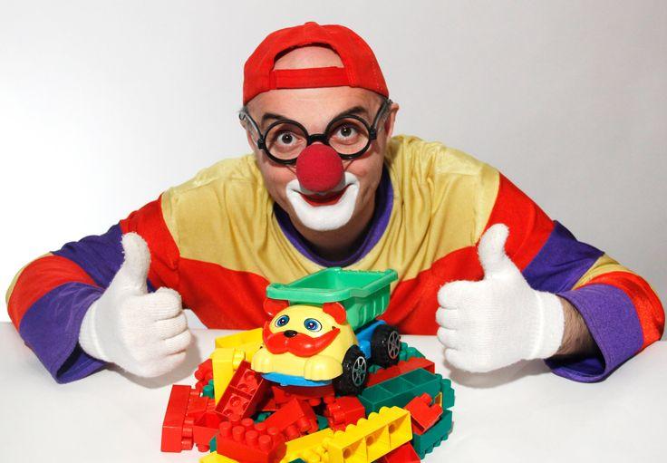 Клоун Дима - Конструктор. Учим цвета и цифры!