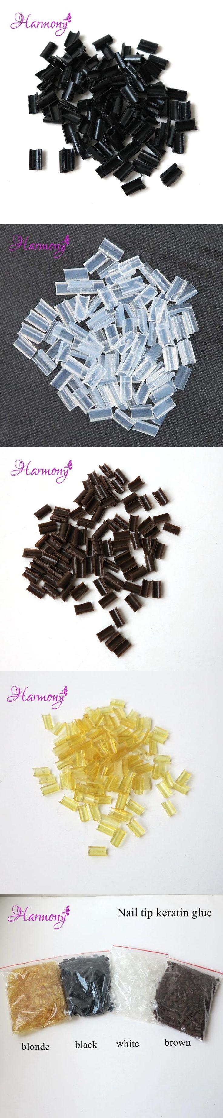 Free shipping 200pcs/lot Keratin glue nail Nail Tip Keratin U-Shaped Glue Nail Tip Keratin Nail Tip for hair extension