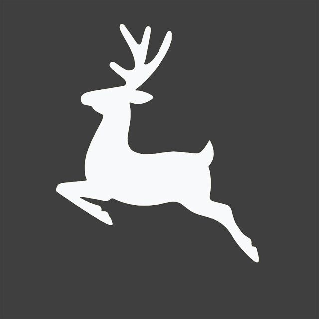 Free Reindeer Silhouette Christmas Printable - Entirely Eventful Day